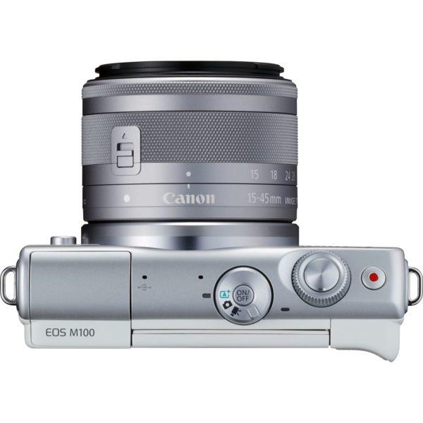 swiss pro camara canon eos m100 blanco objetivo ef m 15 45 mm f35 63 is stm plata 50 gb en irista 4