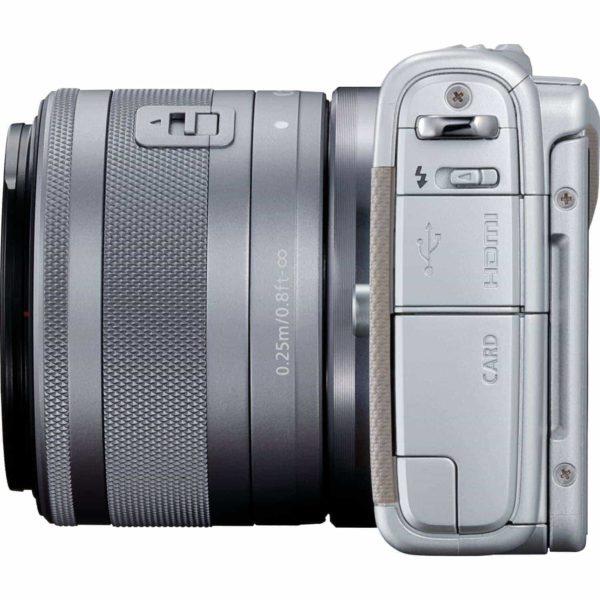 swiss pro camara canon eos m100 gris objetivo ef m 15 45 mm f35 63 is stm plata 50 gb en irista 2