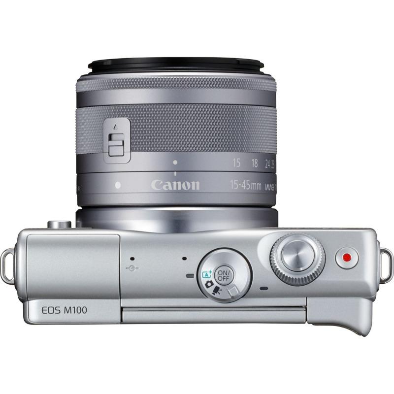 swiss pro camara canon eos m100 gris objetivo ef m 15 45 mm f35 63 is stm plata 50 gb en irista 3
