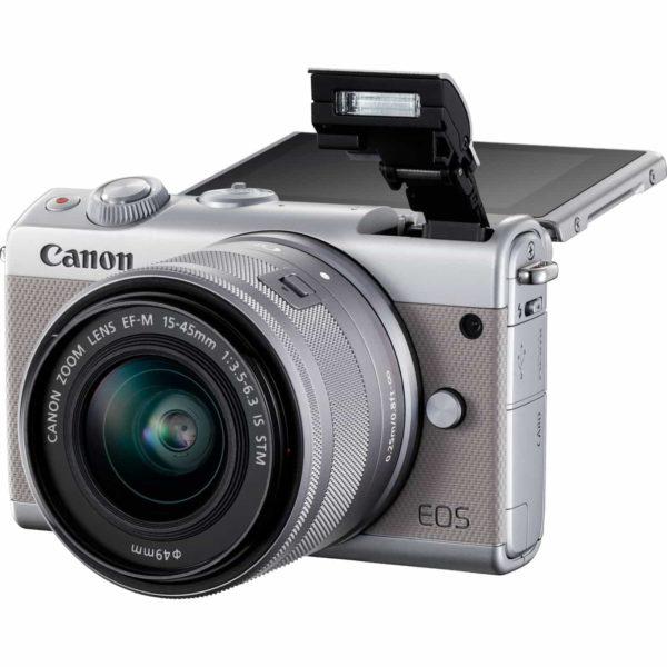 swiss pro camara canon eos m100 gris objetivo ef m 15 45 mm f35 63 is stm plata 50 gb en irista 5
