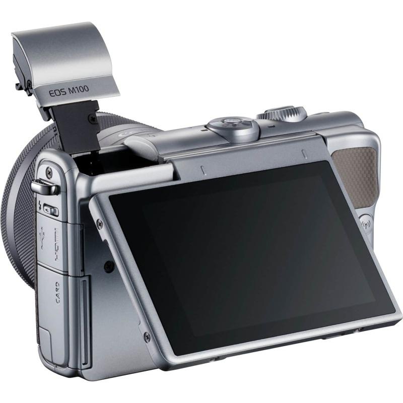 swiss pro camara canon eos m100 gris objetivo ef m 15 45 mm f35 63 is stm plata 50 gb en irista 7