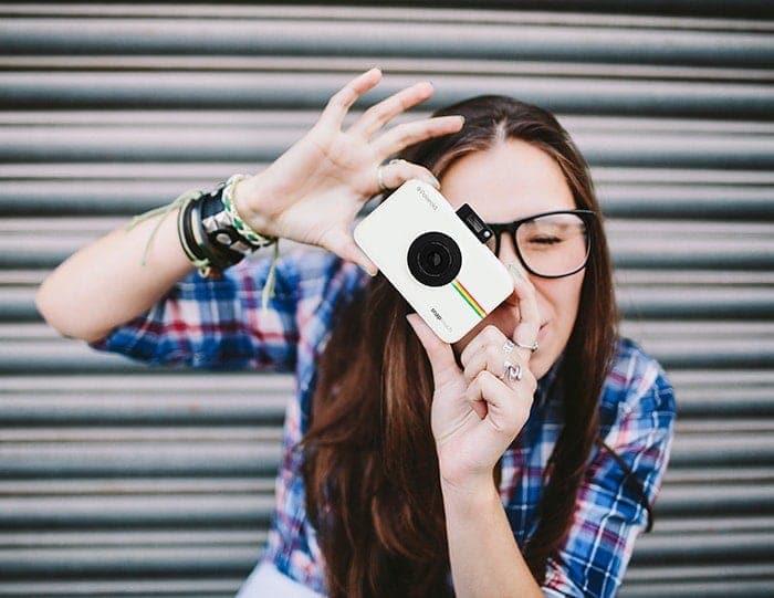 swiss pro camara instantanea polaroid snap touch blanco 6