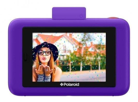 swiss pro camara instantanea polaroid snap touch purpura 2