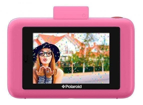 swiss pro camara instantanea polaroid snap touch rosado 2