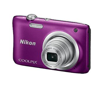 swiss pro camara nikon coolpix a100 purpleestucheselfie stick
