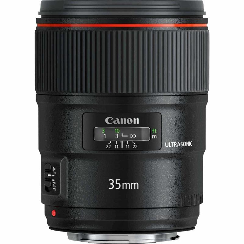swiss pro objetivo canon ef 35 mm f14l ii usm