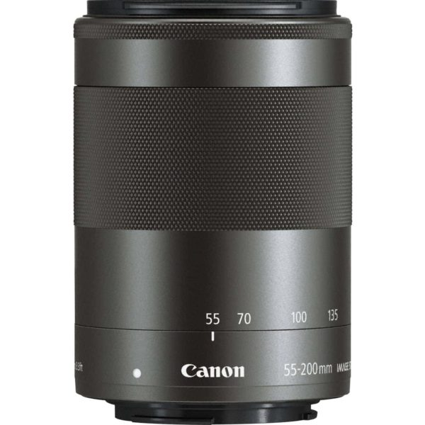 swiss pro objetivo canon ef m 55 200mm f45 63 is stm negro