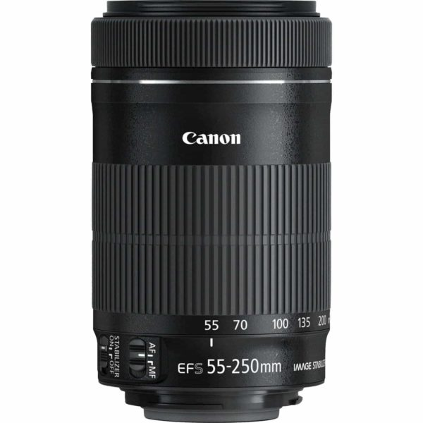 swiss pro objetivo canon ef s 55 250 mm f4 56 is stm