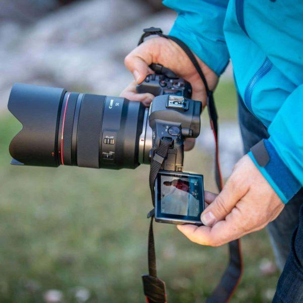 swiss pro objetivo canon rf 50mm f12l usm 7