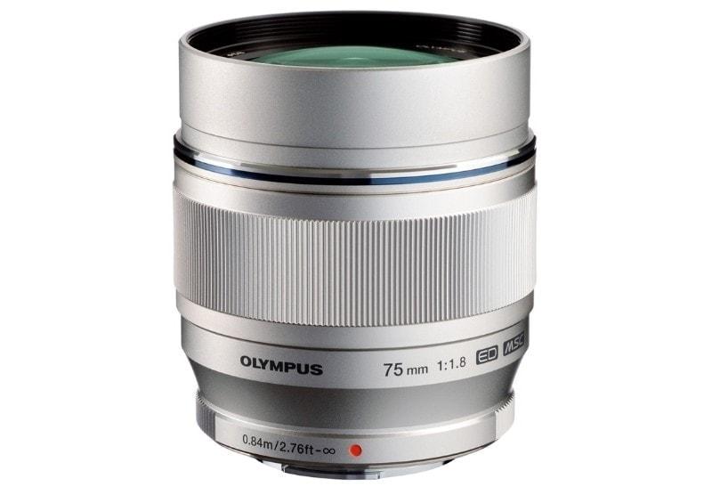 swiss pro objetivo olympus mzuiko digital ed 75mm f18 plata