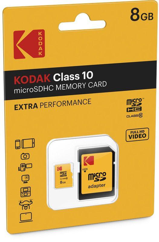 kodak extra microsdhc10 cardboard 8gb