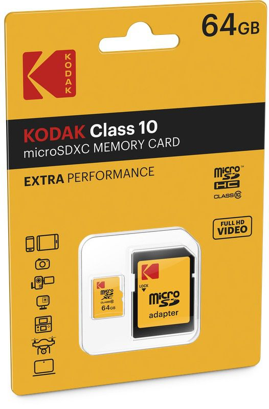 kodak extra microsdxc10 cardboard 64gb