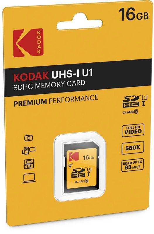 kodak premium sdhc10 uhs1 u1 cardboard 16gb