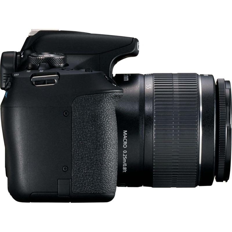 swiss pro camara canon eos 2000d objetivo ef s 18 55mm is ii lens bateria lp e10 3