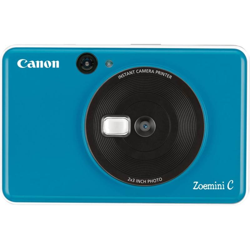 swiss pro camara impresora instantanea canon zoemini c azul mar 0