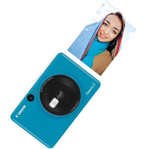 swiss pro camara impresora instantanea canon zoemini c azul mar 3