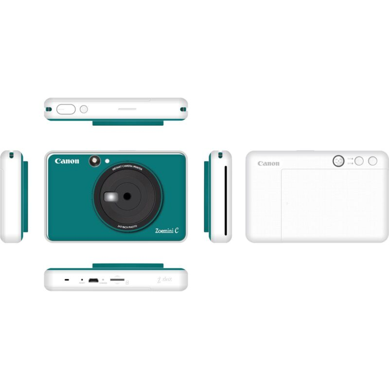 swiss pro camara impresora instantanea canon zoemini c azul mar 4