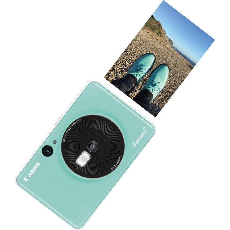 swiss pro camara impresora instantanea canon zoemini c verde menta 4