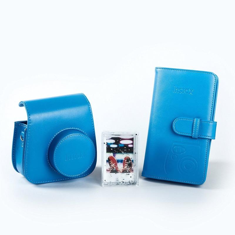 swiss pro kit accesorios para fuji instax mini 9 azulcobalto