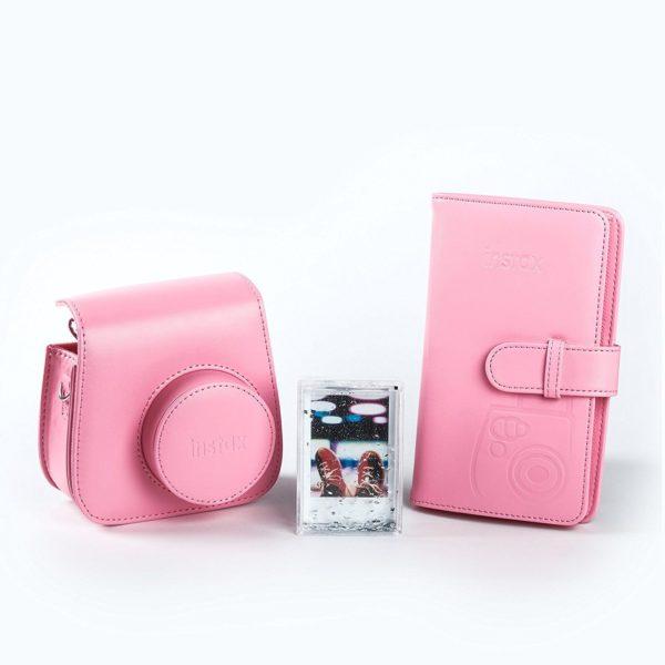 swiss pro kit accesorios para fuji instax mini 9 rosado