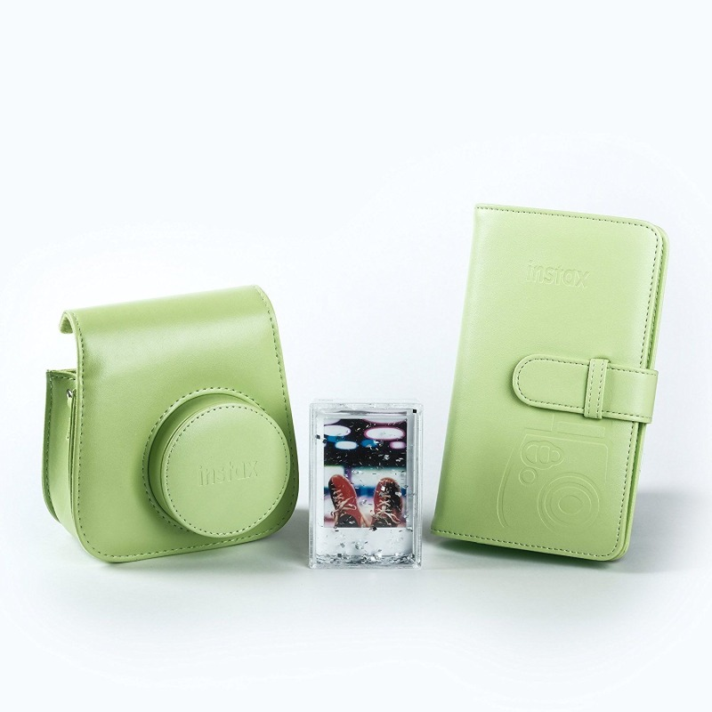 swiss pro kit accesorios para fuji instax mini 9 verde
