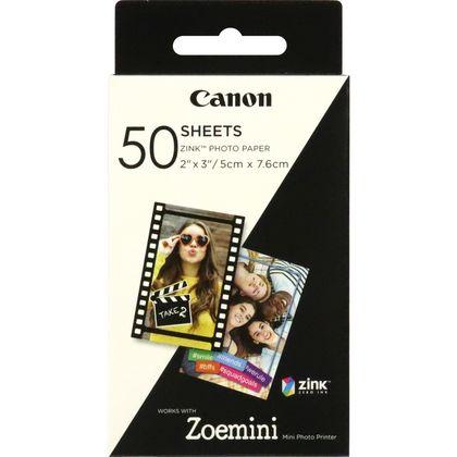 swiss pro papel instant canon zink de 5 x 76 cm 50 hojas