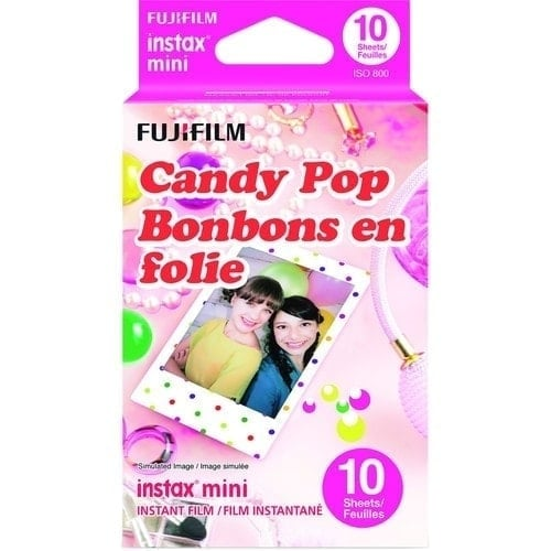 swiss pro pelicula instantanea fuji instax mini candypop ww 1 1x10 fotos
