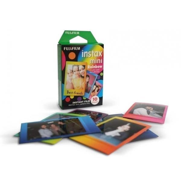 swiss pro pelicula instantanea fuji instax mini rainbow 1x10 fotos 3