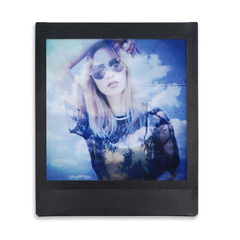 swiss pro pelicula instantaneo fuji instax square black frame ww 1 1x10 fotos 1