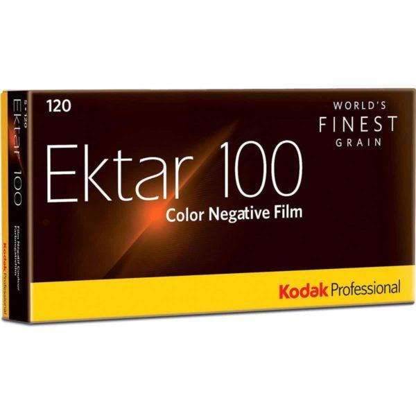 swiss pro pelicula para fotos a color 120 kodak ektar 100 paquete de 5 carretes