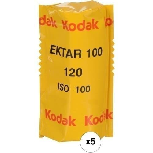 swiss pro pelicula para fotos a color 120 kodak ektar 100 paquete de 5 carretes 1