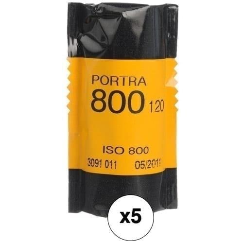 swiss pro pelicula para fotos a color 120 kodak kodak portra 800 paquete de 5 carretes