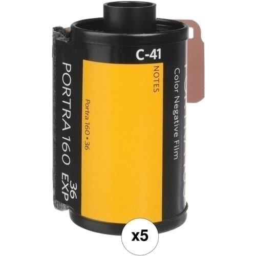 swiss pro pelicula para fotos a color 35mm 160 135 36 paquete de 5 carretes 1