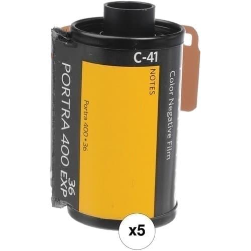 swiss pro pelicula para fotos a color 35mm kodak portra 400 135 36 paquete de 5 carretes