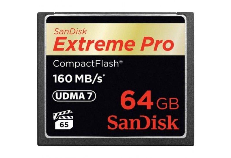 swiss pro tarjeta de memoria cf 64gb sandisk extreme pro 160 mbs