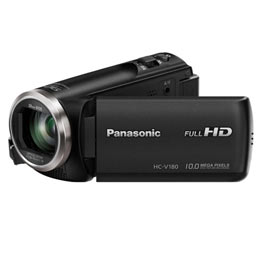 swiss pro camara video panasonic v180 negra con funda