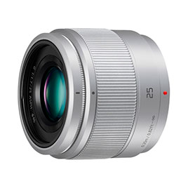swiss pro objetivo panasonic 25mm f1.7 46mm lente focal fija plata