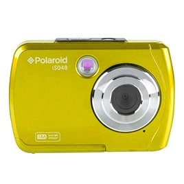 swiss pro camara compacta polaroid is048 amarilla sumergible 3 mts