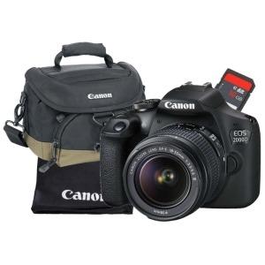 swiss pro camara reflex canon eos 2000d objetivo 18 55mm dc kit bolsosd16gbgamuza