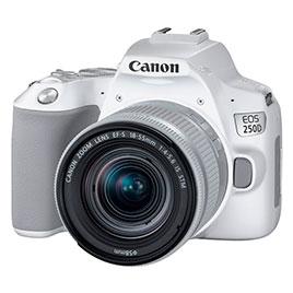 swiss pro camara reflex canon eos 250d ef s 18 55mm f4 5.6 is stm blanca