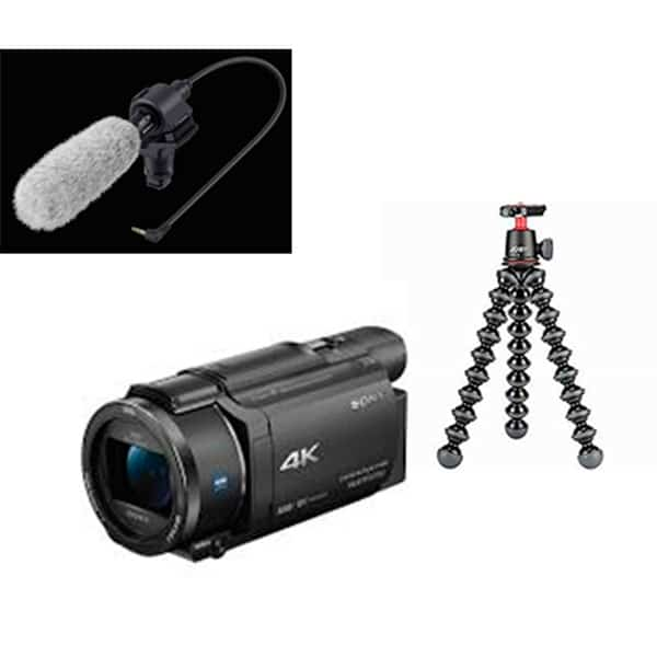 swiss pro camara video sony handycam flash fdr ax53 kit blogueros