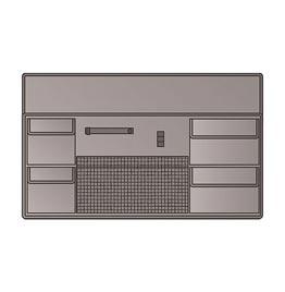 swiss pro maleta explorer lid panel for 7630 7641