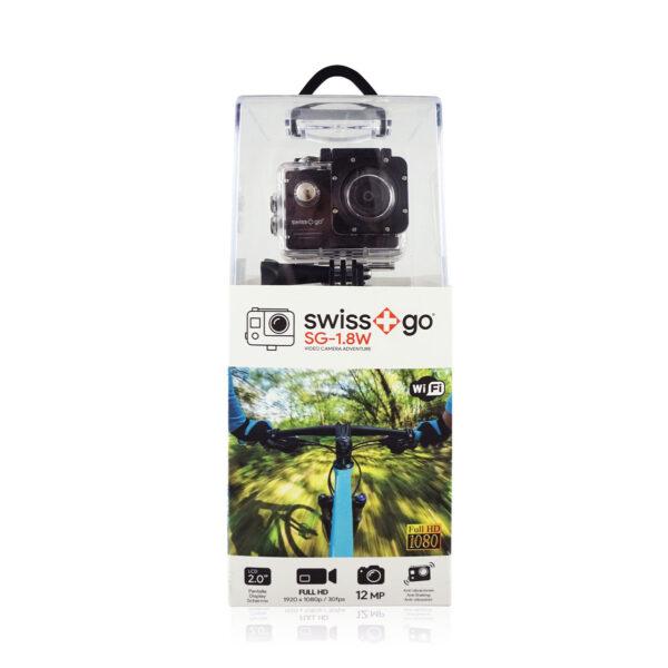 swisspro camara video aventura swissgo sg 1 8w fullhd wi fi negra con accesorios 0003 SG1.8WN