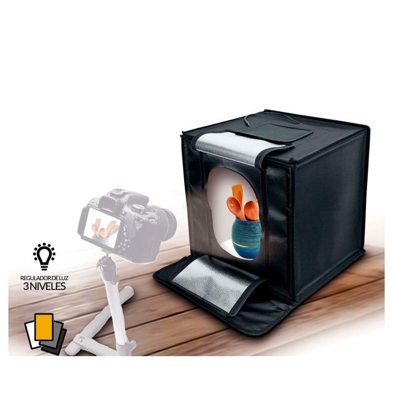 swisspro iluminacion fotima kit mini estudio 70x70 con iluminacion led