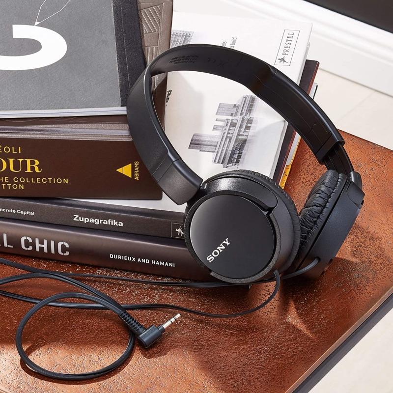 Auricular - Sony MDR-ZX110 Negro 12Hz-22kHz, 24 ohmios, cable 1,2 mts
