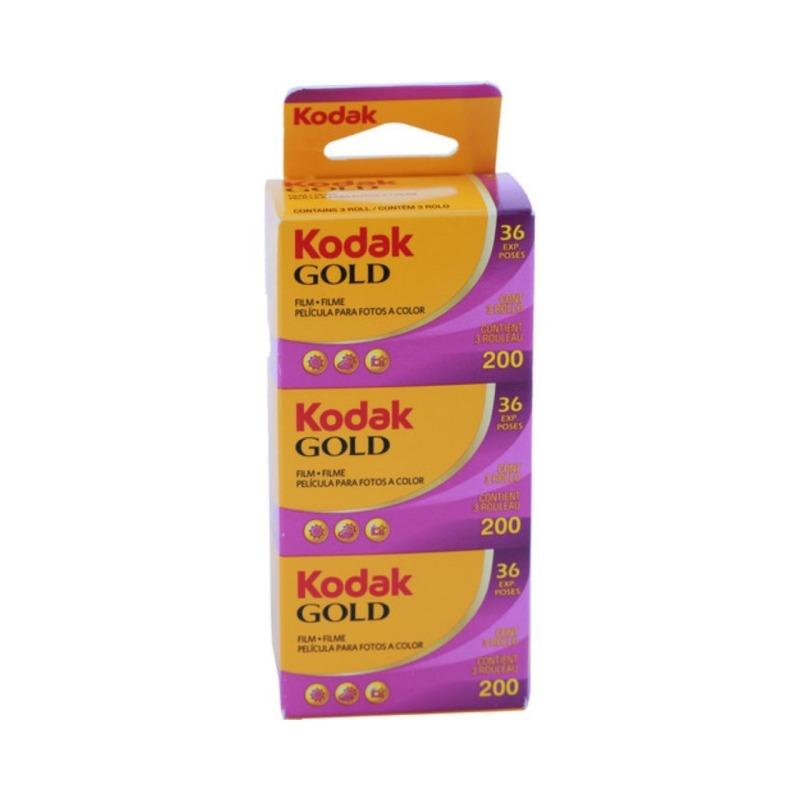 pelicula negativo color 35mm kodak gold gb 200 36 tripack