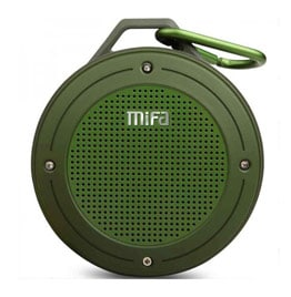 swiss pro altavoz bluetooth portatil mifa f10 3w con mosqueton verde army