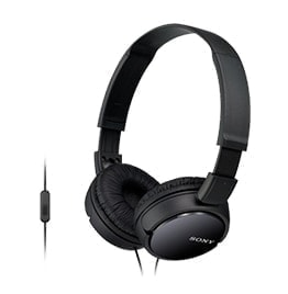 swiss pro auricular sony mdr zx110ap negro 12hz 22khz 24 ohmios cable 12 mts con micro