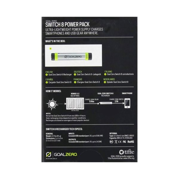swiss pro bateria externa goalzero switch 8 para cargador solar 0005 GZ 21004 1