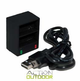 swiss pro cargador baterias action outdoor doble
